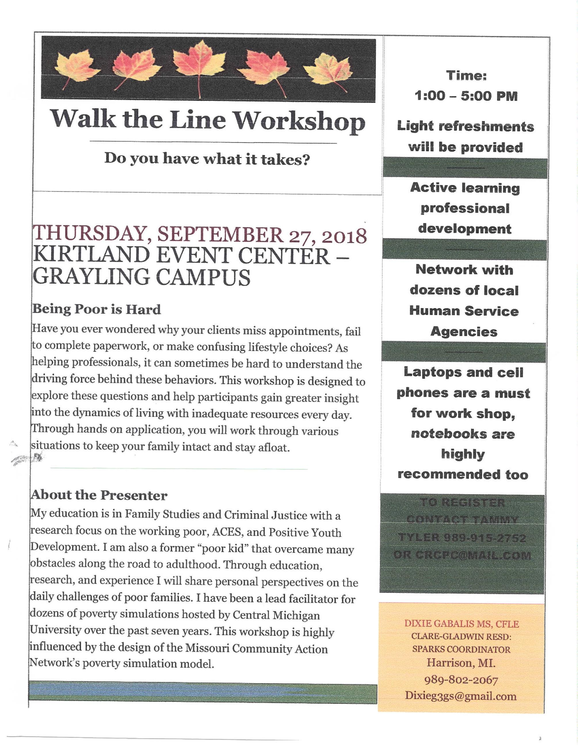 Walk the Line Workshop